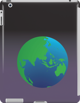 World globe with Australia India Asia and the Middle East by jazzydevil