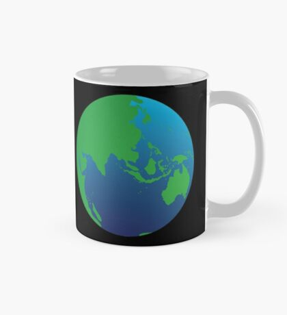 World globe with Australia India Asia and the Middle East Mug