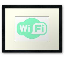 Wifi Aqua Framed Print