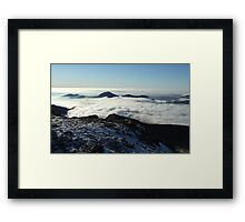 Snowdon Shadow Framed Print