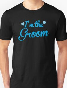I'm the Groom wedding day design in blue T-Shirt