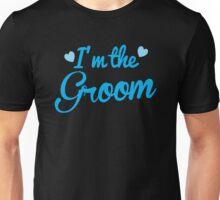 I'm the Groom wedding day design in blue Unisex T-Shirt