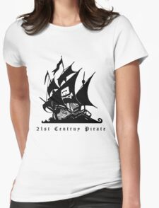 21st Century Pirate Womens Fitted T-Shirt