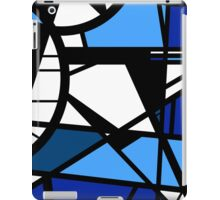 Mirror Blue Contemporary shattered glass abstract art iPad Case/Skin
