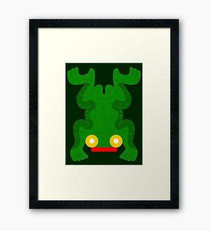Aztec frog V2 Framed Print