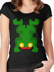 Aztec frog V2 Women's Fitted Scoop T-Shirt
