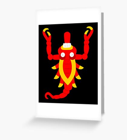 Aztec scorpion V2 Greeting Card