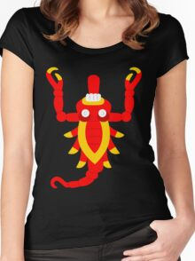 Aztec scorpion V2 Women's Fitted Scoop T-Shirt