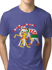 Aztec Zombie - Codex Laud 05 Tri-blend T-Shirt