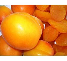 Apricots - Before & After Photographic Print