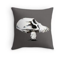Skull Shroom Throw Pillow