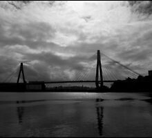 Urban Landscape # 10 Glebe Island Bridge  by Juilee  Pryor