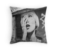 Urban girl Throw Pillow