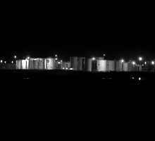 Urban Landscape # 16 Kurnell by Night by Juilee  Pryor