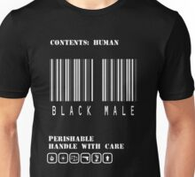 Black Male Barcode Unisex T-Shirt
