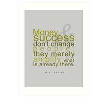 Money&Success Art Print