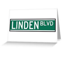 Linden Boulevard Sign Greeting Card