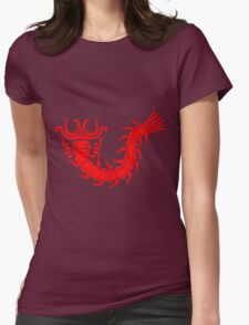 Mayan centipede Womens Fitted T-Shirt