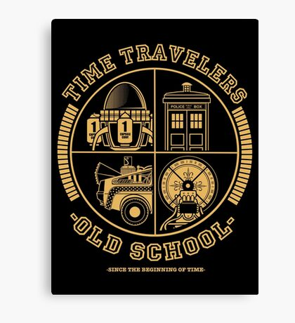 TIME TRAVELERS OLD SCHOOL Canvas Print