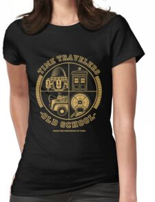 TIME TRAVELERS OLD SCHOOL Womens Fitted T-Shirt