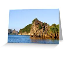 Rocky Islands at Sunset - Hạ Long Bay, Vietnam. Greeting Card