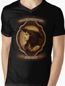 Annie Oakley Buffalo Bill's Wild West Show Sharpshooter Mens V-Neck T-Shirt