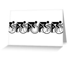 The Bicycle Race 2 Black Greeting Card