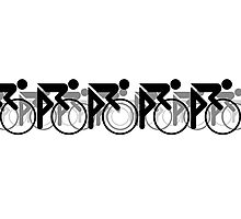 The Bicycle Race 2 Black Photographic Print