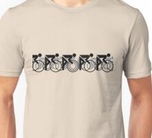 The Bicycle Race 2 Black Unisex T-Shirt