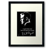 F. Scott Fitzgerald Design Framed Print