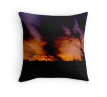 Escaping the inferno Throw Pillow