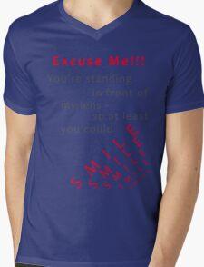 Please Smile Mens V-Neck T-Shirt