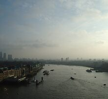 London view from Tower Bridge by Christian  Zammit