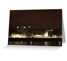 Tower of London By Night Greeting Card