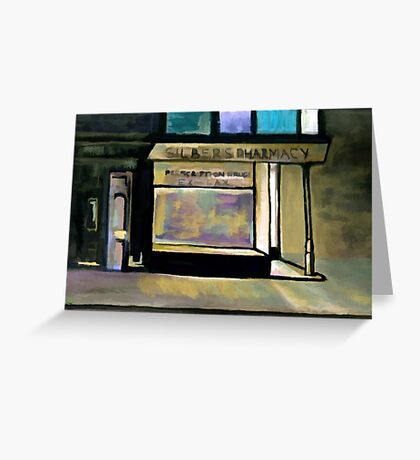 Silbers pharmacy Greeting Card