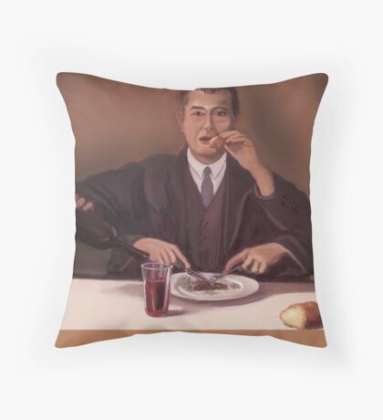 Rene Magritte- self portrait Throw Pillow