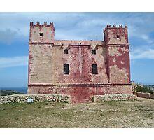 Red Tower at Ghadira, Malta Photographic Print