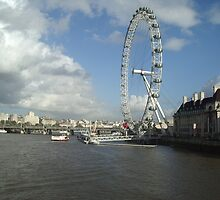 London Eye and River Thames by Christian  Zammit