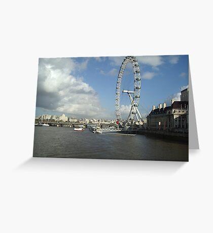 London Eye and River Thames Greeting Card