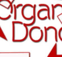 Organ Donor Sticker