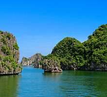 Islands Seascape II - Ha Long, Vietnam. by Tiffany Lenoir
