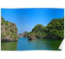 Islands Seascape II - Ha Long, Vietnam. Poster