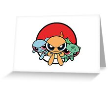 Powerpuff Pokemon Greeting Card