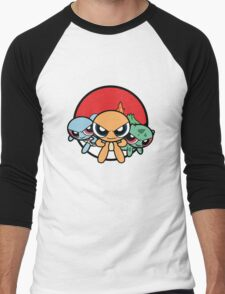 Powerpuff Pokemon Men's Baseball ¾ T-Shirt