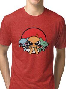 Powerpuff Pokemon Tri-blend T-Shirt