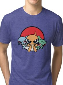 Powerpuff Pokemon Tri-blend T-Shirt