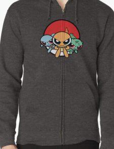 Powerpuff Pokemon Zipped Hoodie