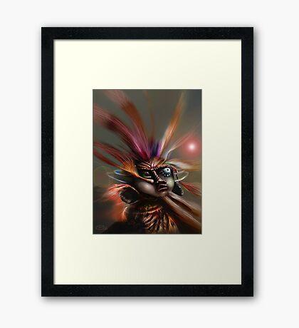 Startled Witchdoctor Framed Print