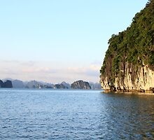 Islands Seascape III - Ha Long, Vietnam. by Tiffany Lenoir