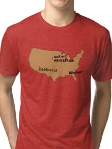 Ogdenville, North Haverbrook and Brockway Tri-blend T-Shirt